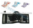 2.4GHz Wireless Silicon Waterproof Flexible Portable Keyboard 10M