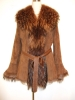Fur Coat-Goat skin with dyed Raccon fur ELS-89