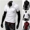 Free shipping Men's Shirt Dress Luxury Fashion Casual Slim Long sleeve Shirt Contrast Color Top