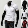 Free shipping Men's Shirt Dress Luxury Fashion Casual Slim Long sleeve Shirt Contrast Color Top