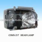 HIACE 2005 RECONFIGURE BLACK CRYSTAL HEAD LAMP