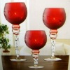 set of 3 glass candle holder