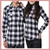 2012 new design plaid lover's shirt