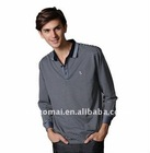 high quality men's casual long sleeve polo tshirt