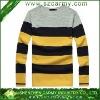 Wool & Acrylic Trendy Simple Leisure Stripe Easy Match Long Sleeve Mens Sweater