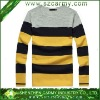 Wool & Acrylic Trendy Simple Leisure Stripe Easy Match Long Sleeve Mens Sweater