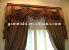 2012 new-designed 100% polyester red jacquard window curtain