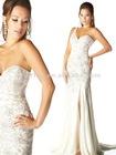 Candlelight Single Shoulder Strap Sparkling Sequins Slitted Column Skirt Formal Evening Dress