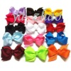 "3"" hair bows with clip, 15color in stock, hot selling"