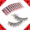 Cheap! 10 Pairs Synthetic Fiber Rhinestone False Eyelash+Glue