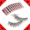 Cheap! 10 Pairs Synthetic Fiber Rhinestone False Eyelash+Glue