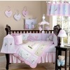 100%cotton embroidery lovely crib bedding sets