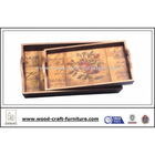Classic MDF wood serving tray with 2 handles