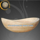 natural travertine stone bathtub / yellow travertine bathtub