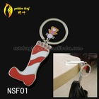 newest foldable nail-scissor design hold 9 kg keychain bag hook car NSF01