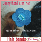 elastic girl hairbands / hair band - blue