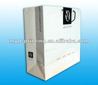 white paper shopping bag with Glossy Lamination
