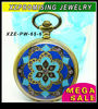 HOT wholesale enamel flower pocket watch with chain