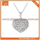 Lovely Heart Flower Locket Pendant Necklace