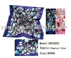 100%polyester printed square scarf