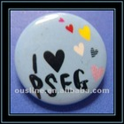 love heart blue metal pin badge