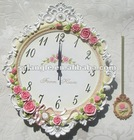 Resin decorative wall clock