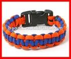 2012 latest 2 color wholesale paracord bracelet supplies wpb-0032