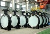 Flange type rubber seated butterfly valve