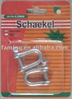 screw pin D type chain shackle
