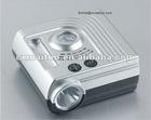 Silver 25MM portable plastic car air pump tire inflator