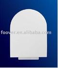 Plastic toilet seat cover hinges