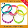 Custom logo micro silicone bracelet