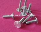 steel zinc plated M8 threaded bolts and nuts