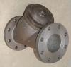 Flange type cast iron valve body