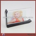 Beautiful Rectangle Freestanding Magnetic Counter Acrylic/Plexiglass Picture/Photo/Card Holder/Frame