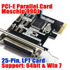 PCI-E Parallel Card 1 Port DB25 LPT1 Printer Port Card MCS9901 Chipset