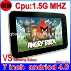 """7"""" Tablet PC android 4.0,allwinner A10,1.5GHz 512M ,4GB memory"""