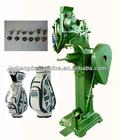 Golf bag riveting machine