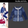 Europe Stylish lady jean coat