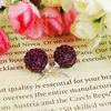 Fashion Jewelry Shamballa Earring Crystal Alloy Bead Jewelry FE003