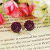 Fashion Jewelry Shamballa Earring Crystal Alloy Bead Jewelry FE003