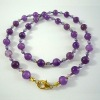 purple jade beads necklace chain