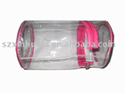 (XHF-PVC-001) round barrel shape clear PVC packing bag