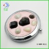 Round gem metal cosmetic mirror fashion design