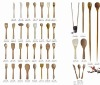 Mini and beauty Wooden/ Bamboo forks,kinfe,spoons-cc@smxingyuan.com