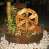 wood waterwheel and fountain for SPA decor