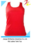 High Quality Slim Fitted Cotton RIb Tank Tops For Lady
