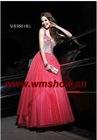 2011 Latest Modern Beaded Ball Gown One Shoulder Evening Dress