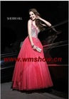 2011 Latest Modern Beaded Ball Gown One Shoulder Evening Dress