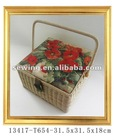 Fashion flower Wood Basket(13417-t654)